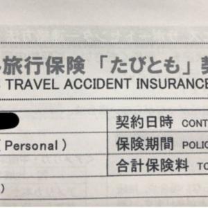 海外旅行保険は「たびとも」を利用しました~保険の必要性と比較