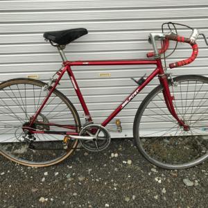 古い自転車もらいました