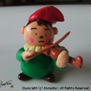 ねんど・バイオリンを弾く小人