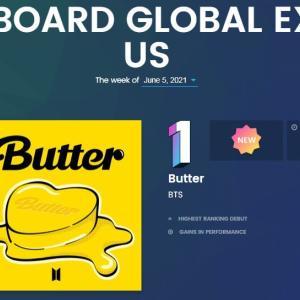 """防弾少年団 """"BUTTER"""" Billboard #1!"""