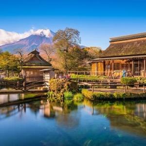 富士山が借景の風景