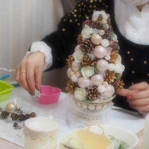 アーティフィシャルフラワー教室神戸|クリスマスフラワーレッスンにお越しいただきました