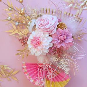 幸運を招く幸せピンク色の『招福熊手』お正月飾りレッスン