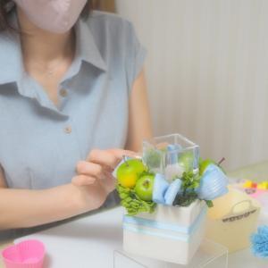 お花のレッスンが初めてでも可愛くできる!プリザーブドフラワー デビュタントレッスンコース2回目