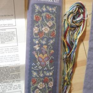 花柄ブックマーク完成 イギリスのお土産をいただきました