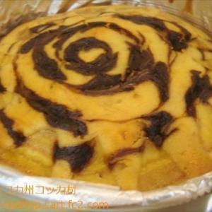 LINE開始 ★いかつい柄のパワースイーツ バナナケーキ作ったよ