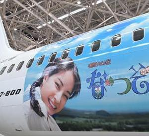 JAL なつぞらJET 特別塗装機運航中★ 平成の大切な思い出