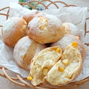 コーングリッツ湯種で作るもっちりコーンパン