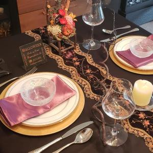 ハロウィンのテーブルコーディネート♪