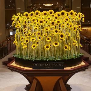 帝国ホテル ロビー装花♪