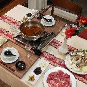 火鍋で晩御飯♪