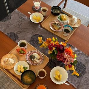 朝ご飯日記と月見の宴の準備♪