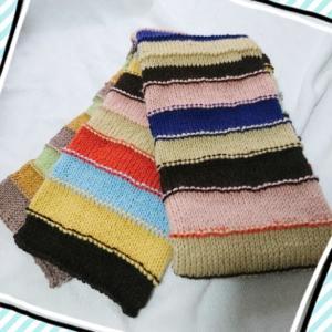 ★輪編みのカラフルマフラー★