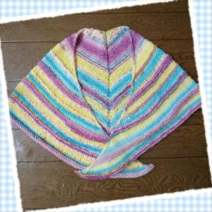 初Opal毛糸で編んだ三角ストール*Franz(フランツ)