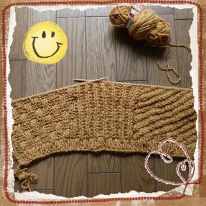 1玉めと2玉めが編み終わりました。