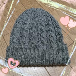 ★ケーブル模様の帽子★