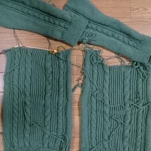 パーツが編めました。