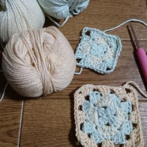 頂き物と編み物。