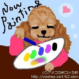 ペットの似顔絵ペイント中 トールペイント 犬雑貨