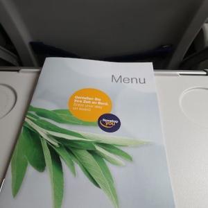 196 ヴァンター発フランクフルト行きLH便 機内食〜ヘルシンキ旅行2018