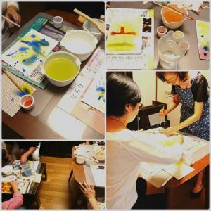 どうなるのか、わからないから面白い!【色の瞑想~にじみ絵ワークショップ】開催しました。