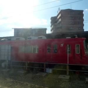 車窓からの名古屋鉄道 豊川稲荷駅 点描