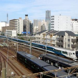 青い電車の競演   相鉄線 西横浜駅界隈