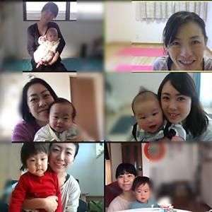 はじめまして♡のママと赤ちゃんも一緒でした【オンラインおやこヨガレッスンレポ】