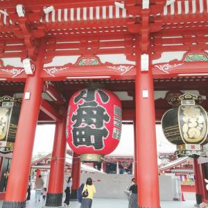 浅草寺に観光