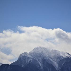 雪嶺、凱風の青