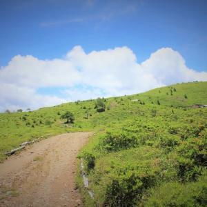 青空の道、七月の稜線