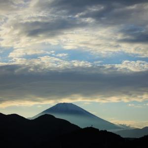 青匂う、富士夕景