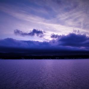 叢雲富士の藍、冬日暮