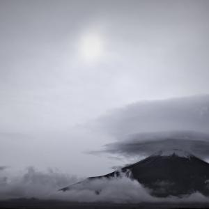 雲冠、富士山