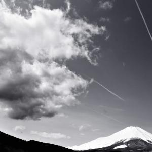 奔雲、富士山