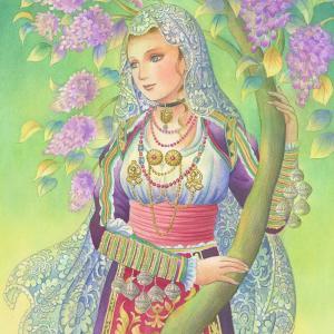 イタリア~「大人の塗り絵 ヨーロッパの民族衣装編」