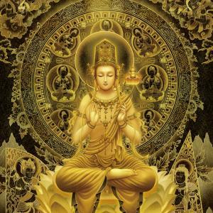 【弥勒菩薩】「日本の密教カード」より