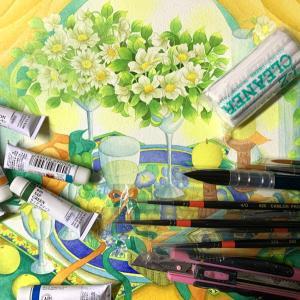 【絵の具や紙の他に水彩画に必要な道具は?】