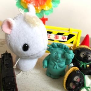 子ウマのハヤテオーと、アーティスト?!ツル田ツル丸!