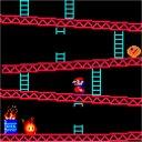 ファミコン初期のマリオのアクションゲーム「ドンキーコング」