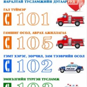 今日は110番の日 モンゴル国緊急通報番号は?