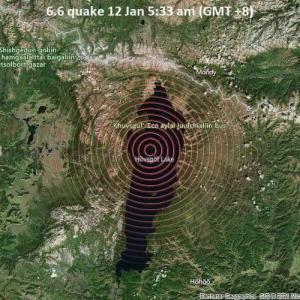 モンゴル北部でマグニチュード6.7の地震発生 ウランバートルでも震度4-5