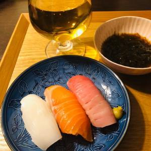 今日はお寿司を頂きました〜