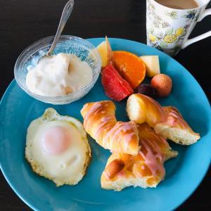 今日の朝食はワンプレート