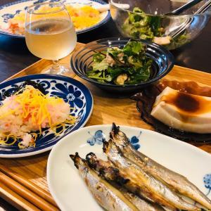 今日の晩ご飯はちらし寿司にしました