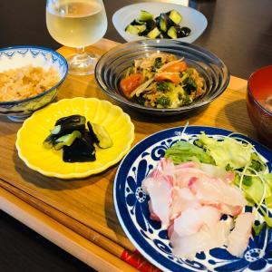 今日の晩ご飯は美味しい鯛のお刺身です