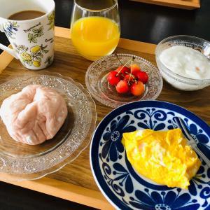 色とりどりの朝食