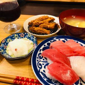 晩ご飯はお寿司〜になりました