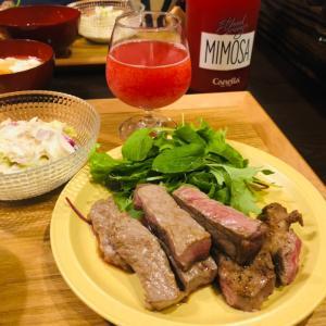 今日の晩ご飯は夏バテ防止のステーキ