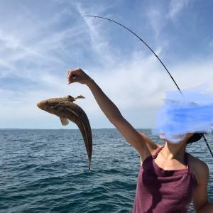 東京から娘が、釣りに行きました